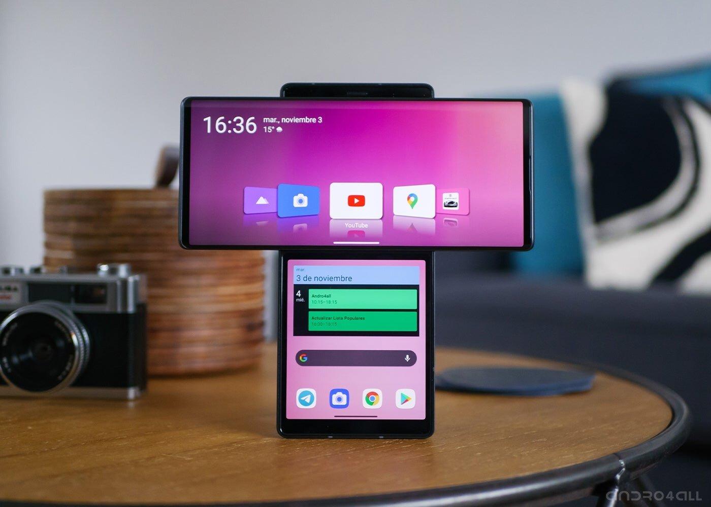LG Wing avec deux écrans