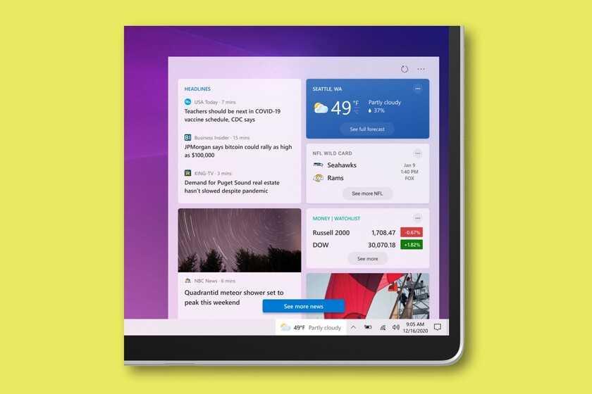 La barre des tâches de Windows 10 ajoute un widget pour la météo, les actualités et plus de personnalisations dans la dernière mise à jour