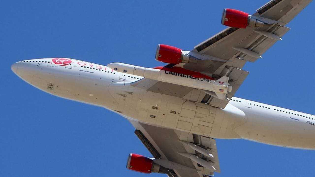 La Fusée Virgin Orbit Lancée Depuis L'aile 747 Déploie Neuf
