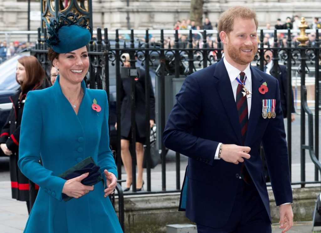 Catherine, Duchess of Cambridge and Prince Harry, Duke of Sussex