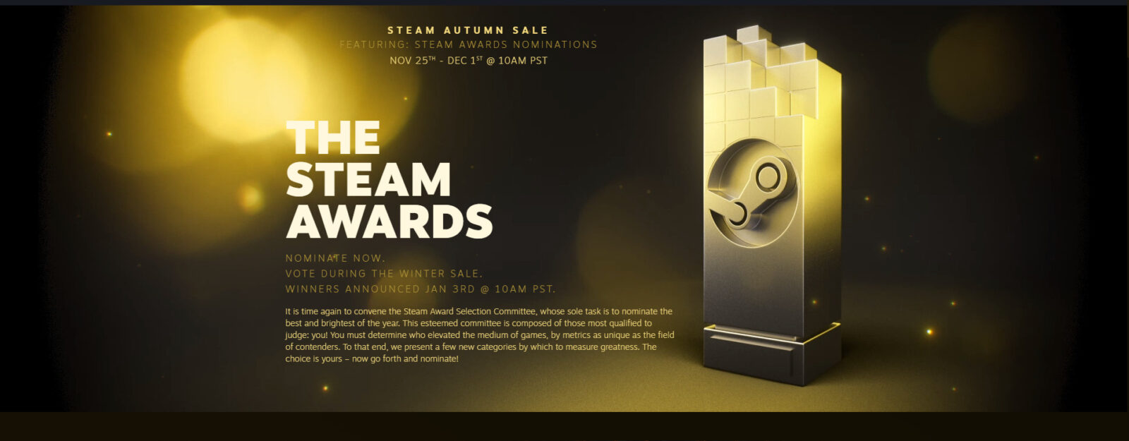 The Steam Awards Once Again Offer A Strange Look Into The Consumers Understanding Of Video Games