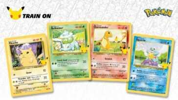 Les cartes Pokémon classiques sont rééditées pour célébrer le 25e anniversaire de la série