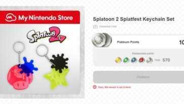Les porte-clés Splatoon 2 sont montés sur My Nintendo aujourd'hui, et immédiatement épuisés