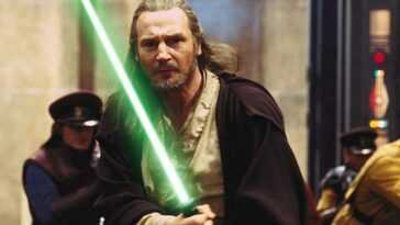 Liam Neeson Sort Son Sabre Laser Original De The Phantom