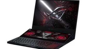 L'ordinateur Portable Rog Zephyrus Duo à Double écran D'asus Utilise