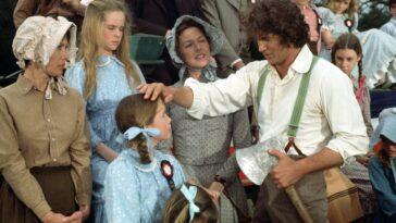 Melissa Sue Anderson as Mary Ingalls, Melissa Gilbert as Laura Ingalls, Karen Grassle as Caroline Ingalls, Michael Landon as Charles Ingalls