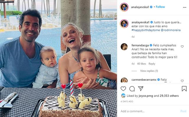 Ana Layevska montre sa famille très heureuse sur Instagram (Photo: Instagram)