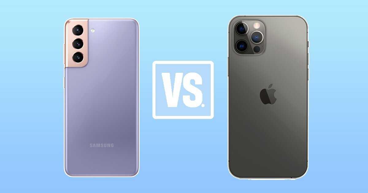 Samsung Galaxy S21 contre iPhone 12 Pro Max