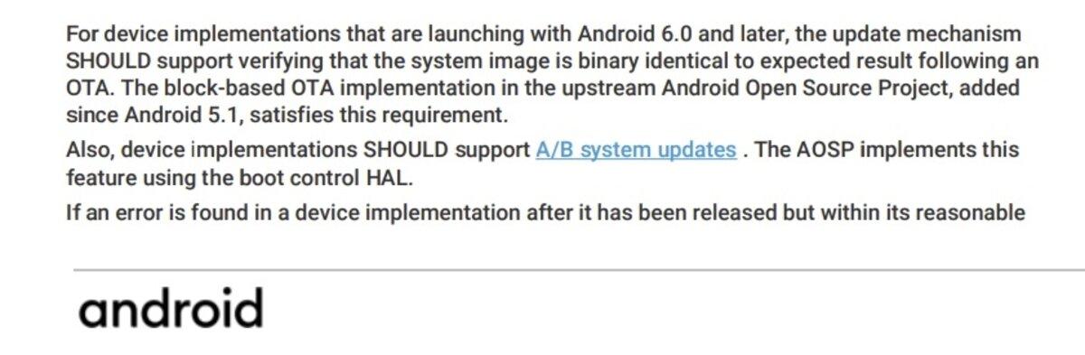 Extrait des termes d'Android 11