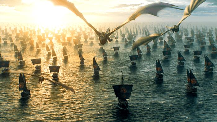 Daenerys et ses dragons arrivent