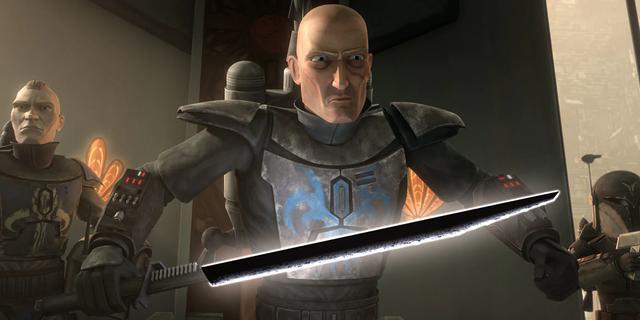 Le sabre noir est très important pour les habitants de Mandalore (Photo: Lucasfilm)