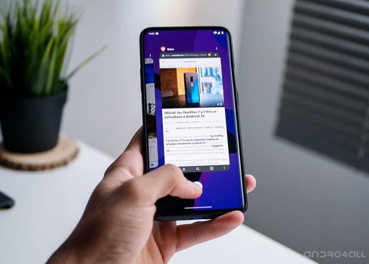 Gestes Android 10 sur un OnePlus 7 Pro