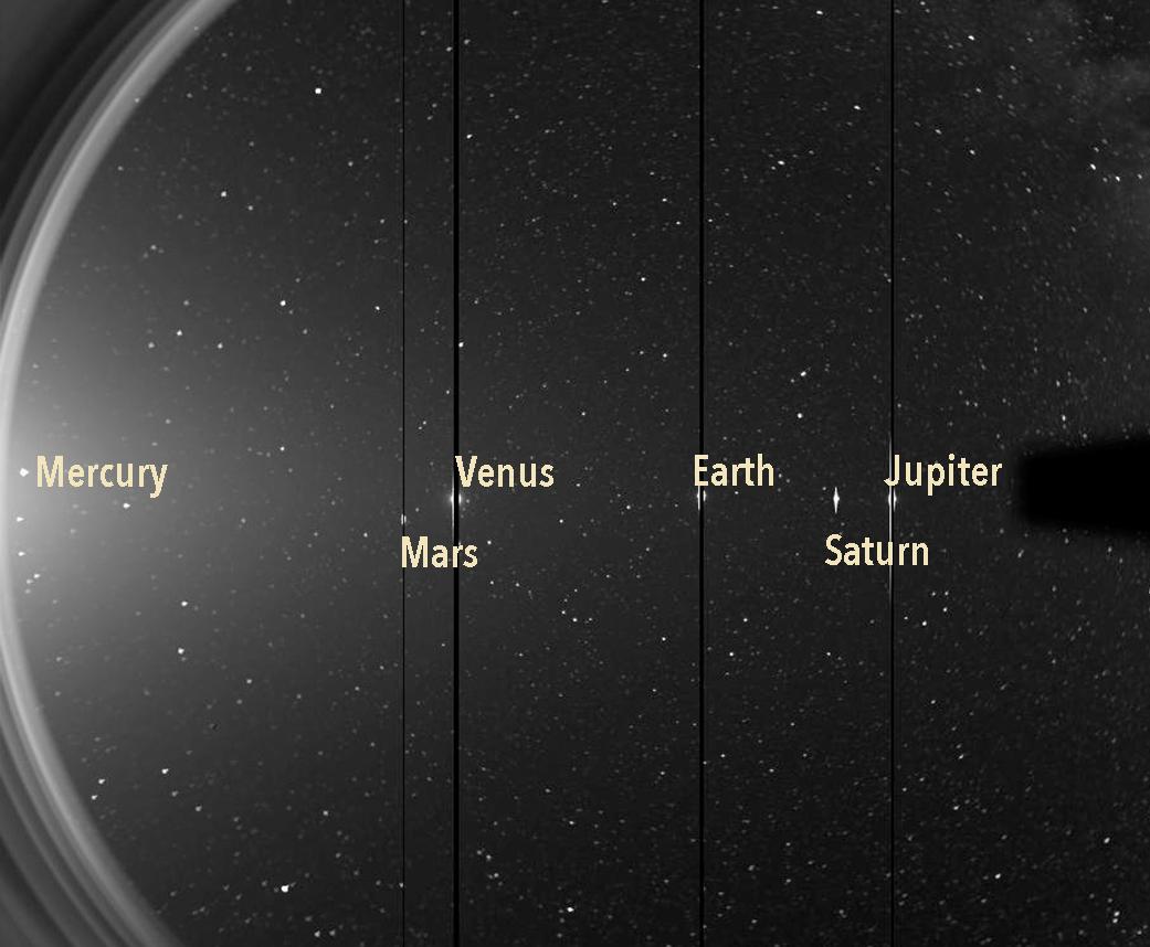 Le vaisseau spatial STEREO de la NASA a repéré six planètes le 7 juin 2020.