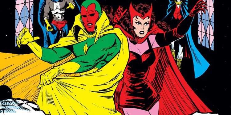 Scarlet Witch Vision Marvel Comics Cover