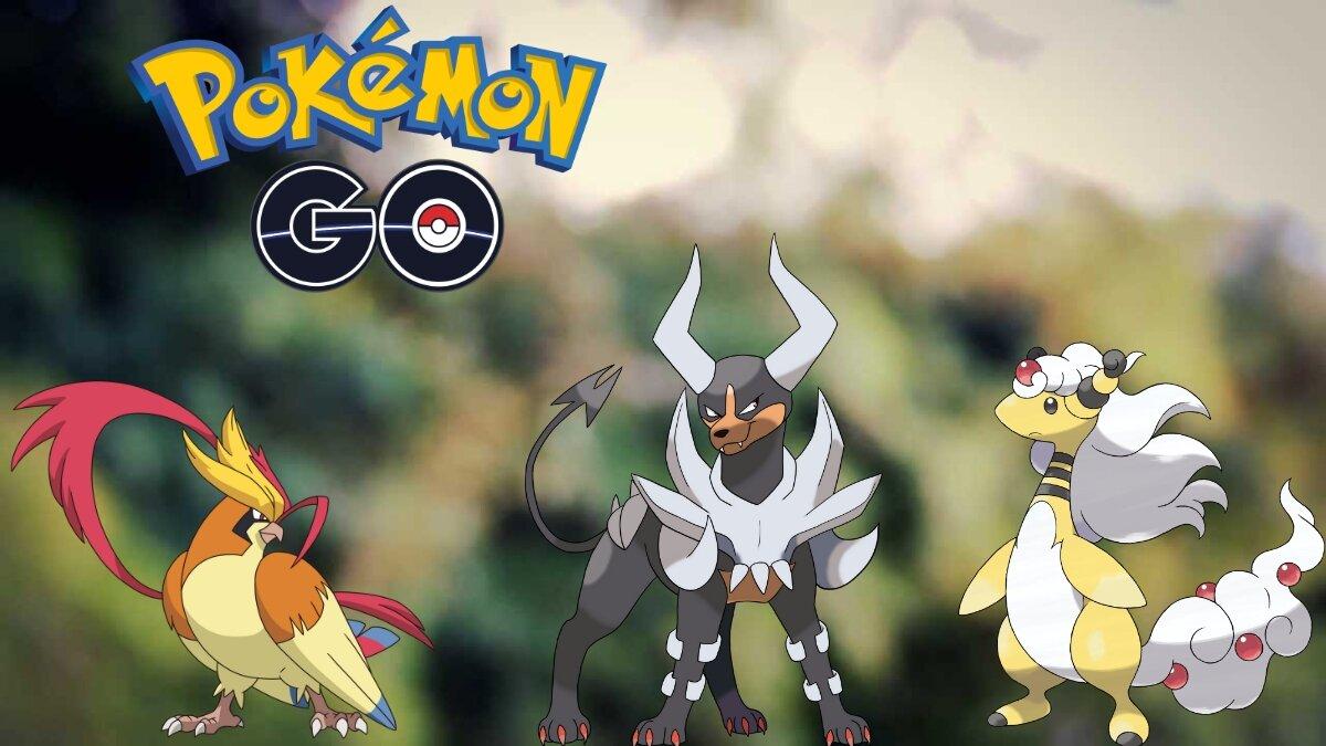 Pokémon GO: Mega-Ampharos, Mega-Houndoom et Mega-Pidgeot