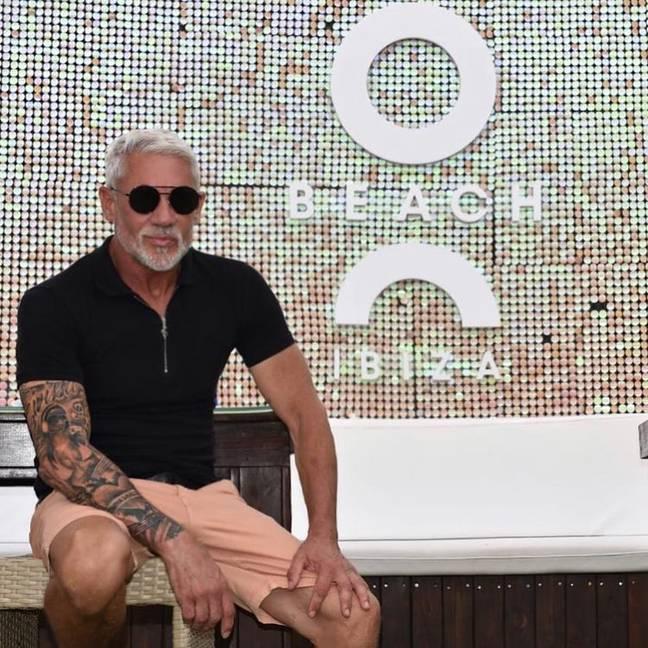 Lineker à O Beach Ibiza.  Crédit: Instagram