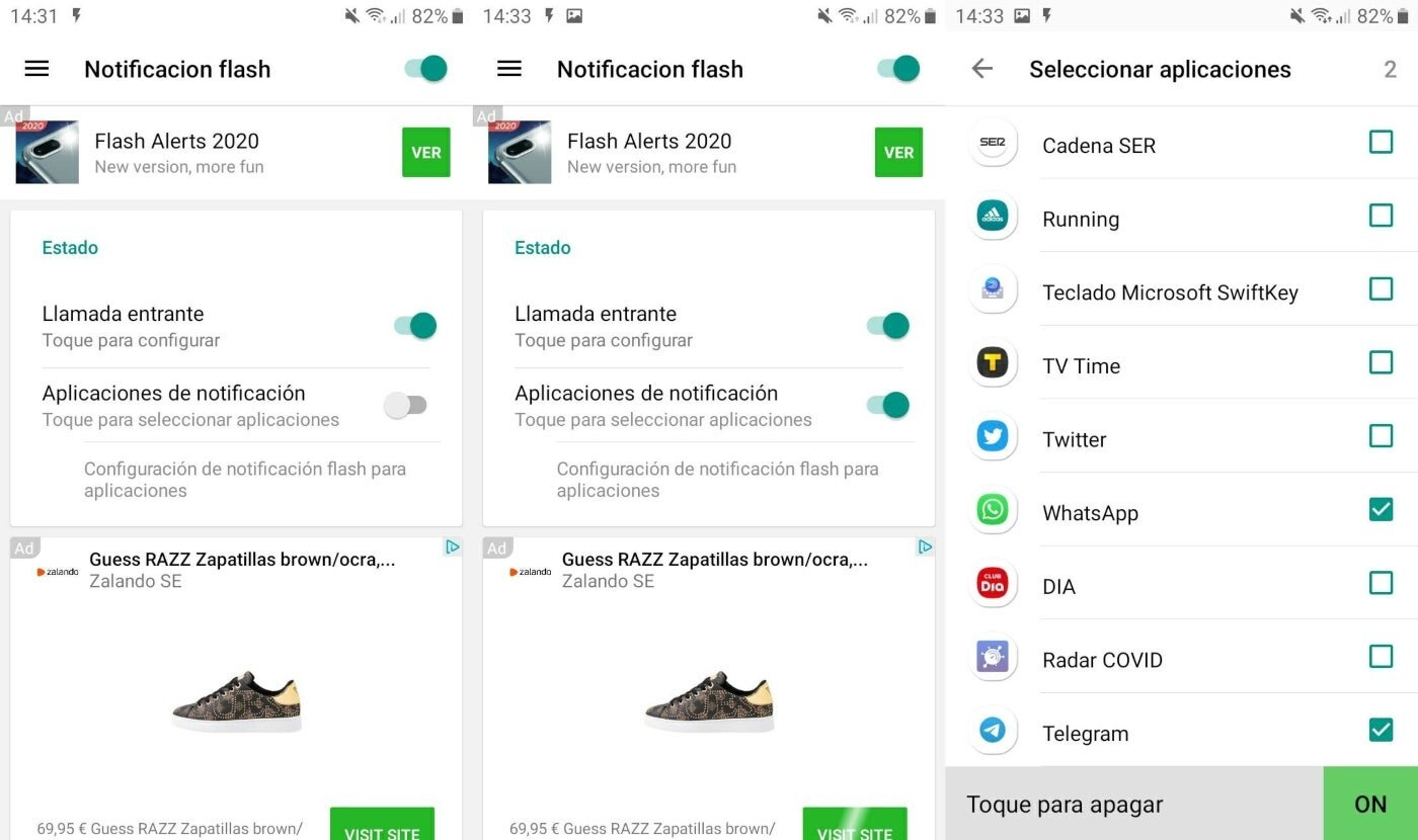 Activer la notification flash pour les messages