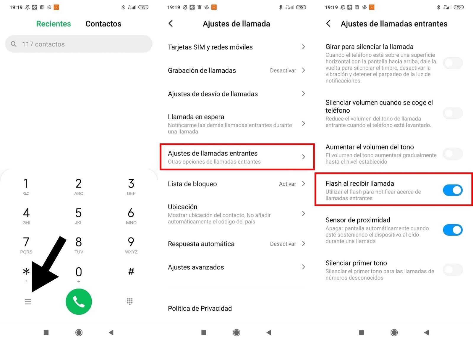 Activer le flash pour les appels sur Xiaomi
