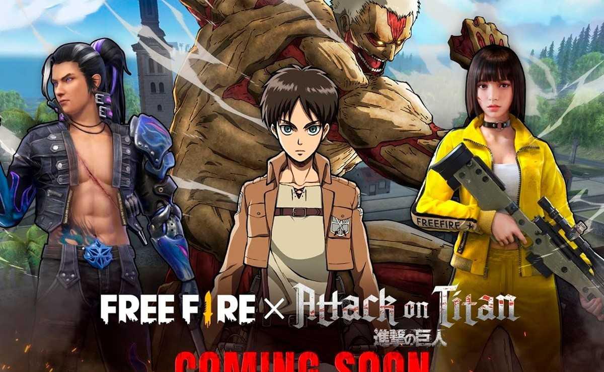 """Garena Free Fire annonce un crossover avec """"Attack On Titan"""""""