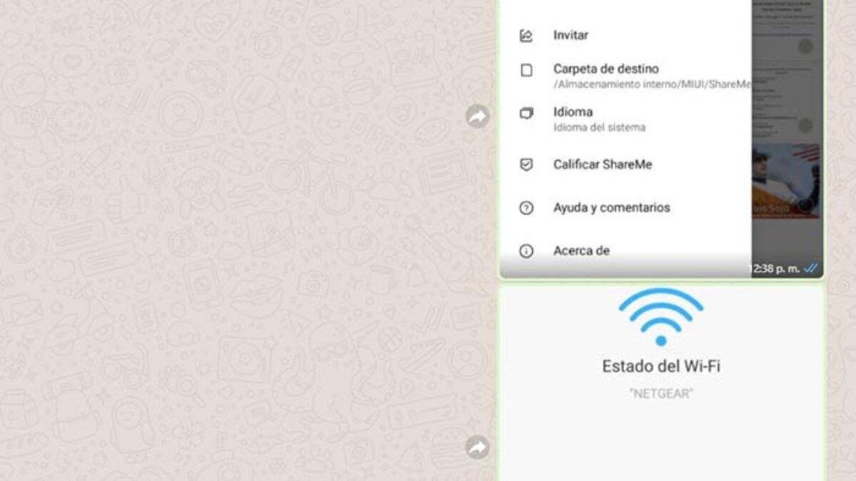transmettre les fichiers WhatsApp