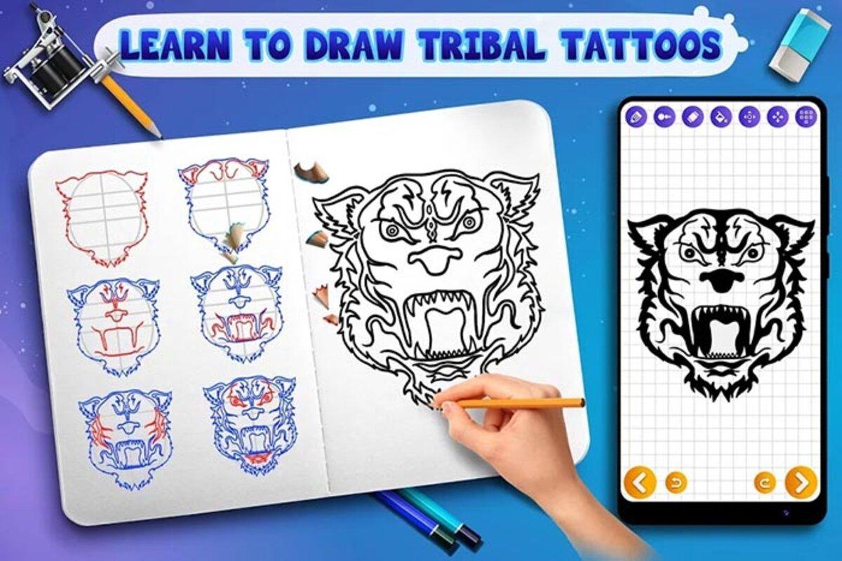 apprendre à dessiner des tatouages tribaux