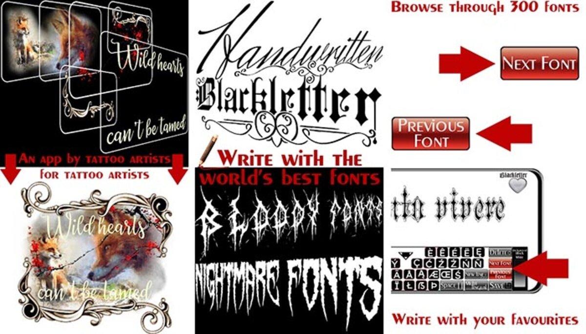 concepteur de polices de tatouages