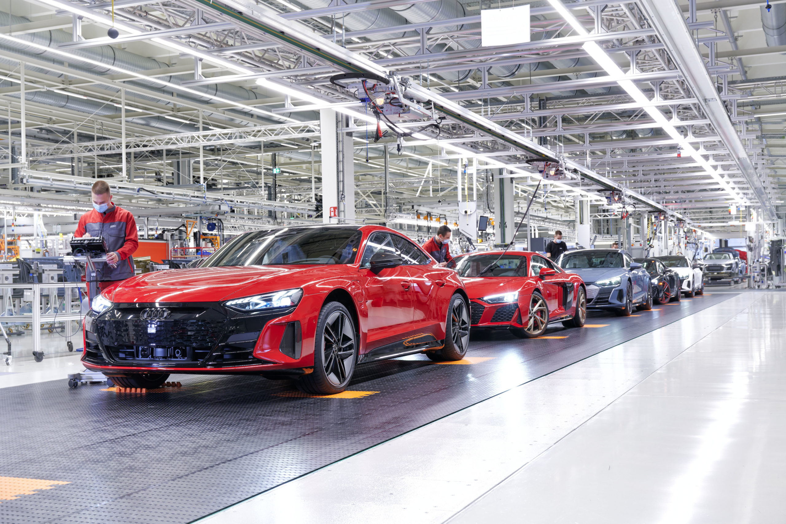 Ligne de production Audi e-etron GT