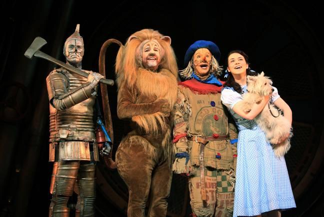 Le magicien d'Oz, au London Palladium, dans le centre de Londres.  Image: PA