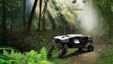 Hyundai dévoile TIGER, son véhicule à quatre pattes: un robot qui bascule entre les roues et les jambes au besoin
