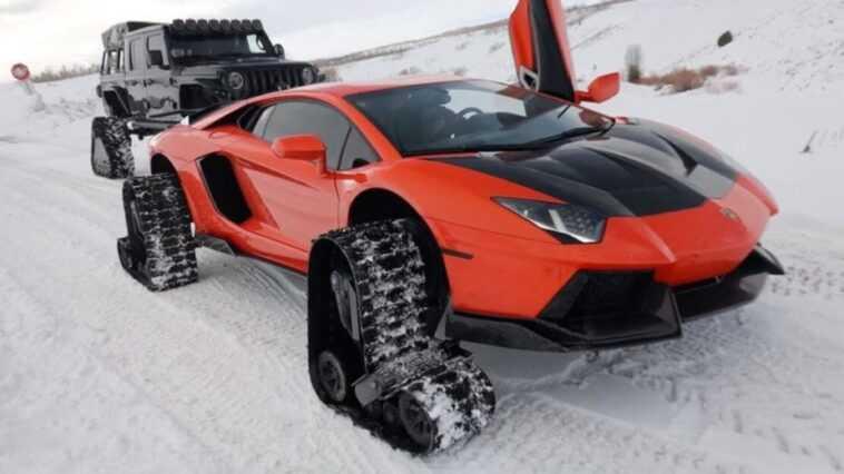 Lamborghini Aventador Avec Chenilles: Solution De Neige Ou Recette Du