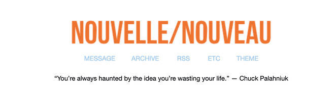 Le Tumblr d'Elisa Lam: Nouelle / Nouveau existe toujours sur la plateforme