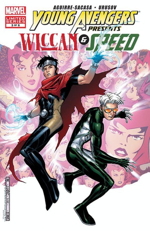 Wiccan et Speed ont découvert qu'ils étaient jumeaux et c'est pourquoi ils ont cherché des informations sur leur passé dans les bandes dessinées (Photo: Marvel Comics)