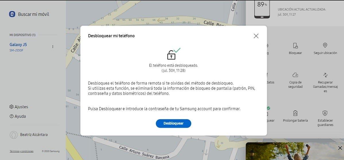 Débloquez Samsung mobile avec Find My Mobile