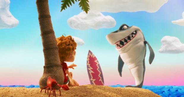 Le requin semble connaître la réponse.  Est-ce bon ou mauvais?  (Photo: Disney Plus)