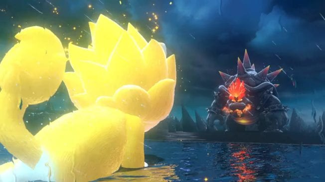 Super Mario 3D World Bowser Fury - Mario en Super Saiyan