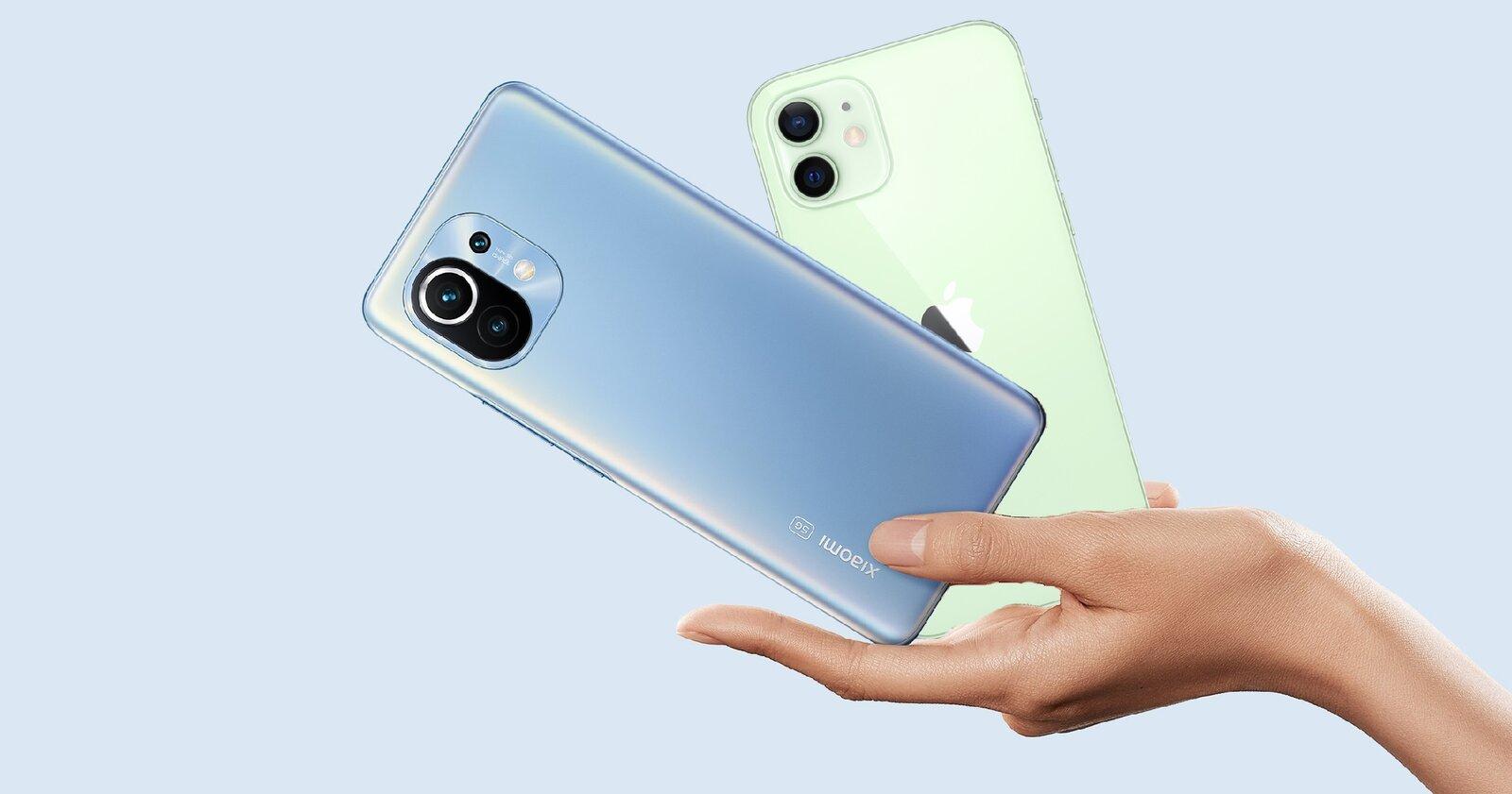 Xiaomi Mi 11 contre iPhone 12
