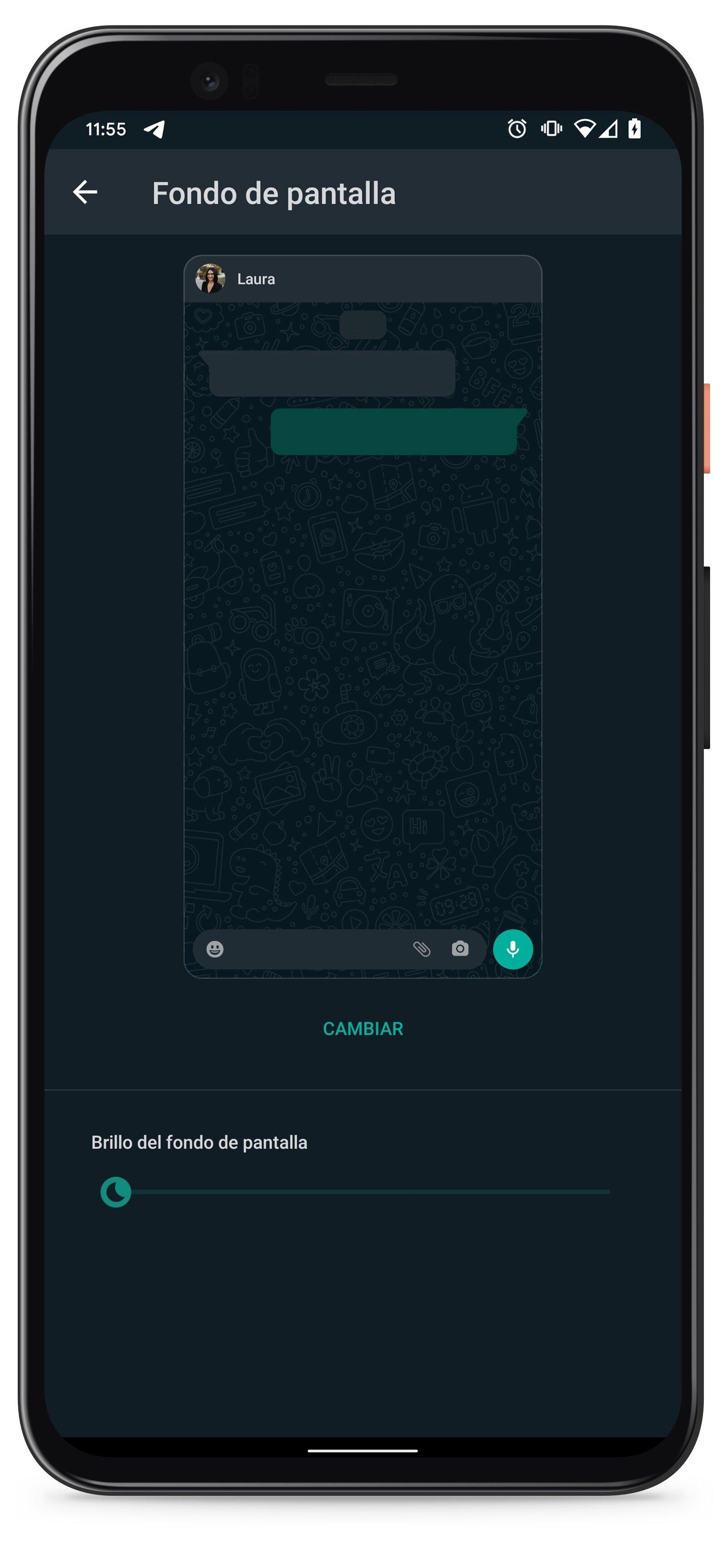 Comment mettre un arrière-plan différent à chaque discussion WhatsApp