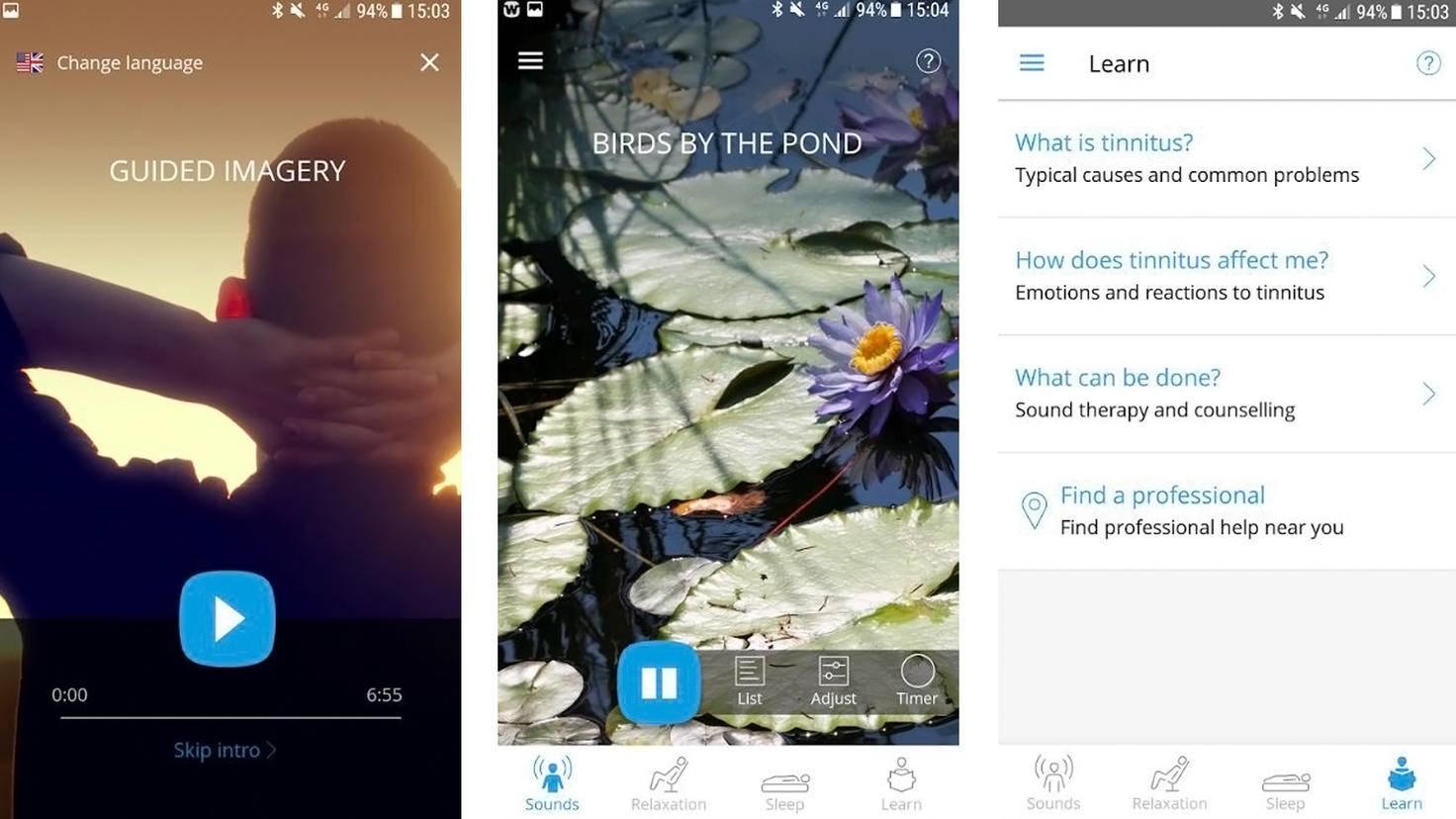 Application Widex Zen Tinnitus-Google Play Store-Widex AS