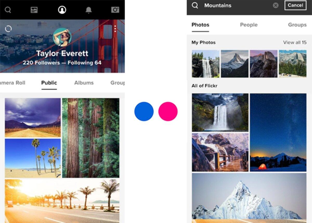 Flickr pour télécharger des photos comme sur Instagram