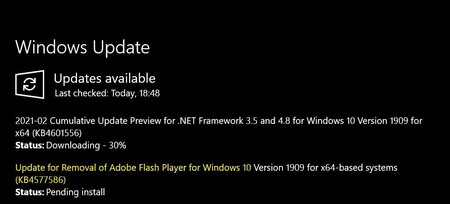 Windows Update Supprimer Adobe Flash 1