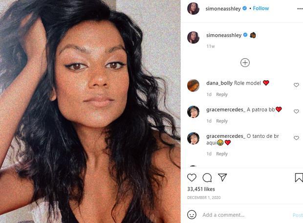 Simone Ashley sur Instagram (Photo: simoneasshley)