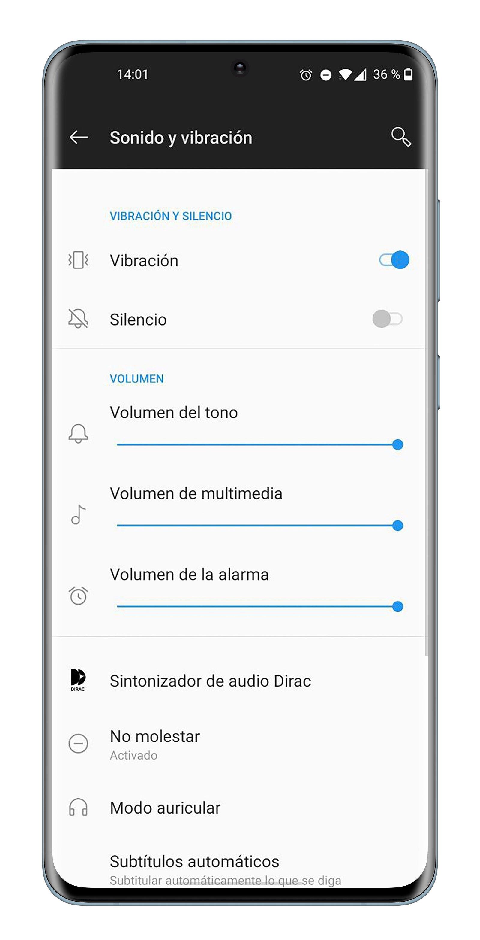 Son et vibration sur Android