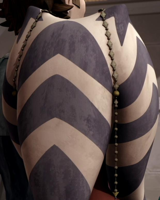 Perles de silka qu'Ahsoka Tano utilise pour démontrer son rang Jedi (Photo: Lucasfilm)