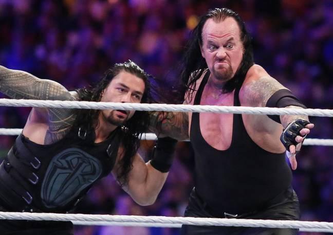 The Undertaker (à droite) pense que The Rock unirait l'Amérique sous le nom de POTUS.  Crédit: PA