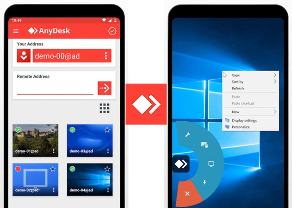 Anydesk est une alternative à Teamviewer