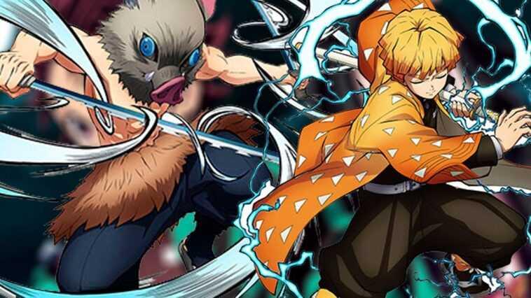 "Le jeu vidéo ""Demon Slayer"" montre Zenitsu et Inosuke"