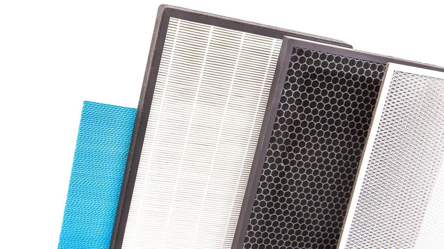 Purificateur d'air-Filtre-Préfiltre à charbon actif Hepa-Grispb-AdobeStock_250936696