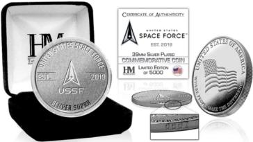 Nous Offrons Une Pièce D'argent Commémorative De L'us Space Force!