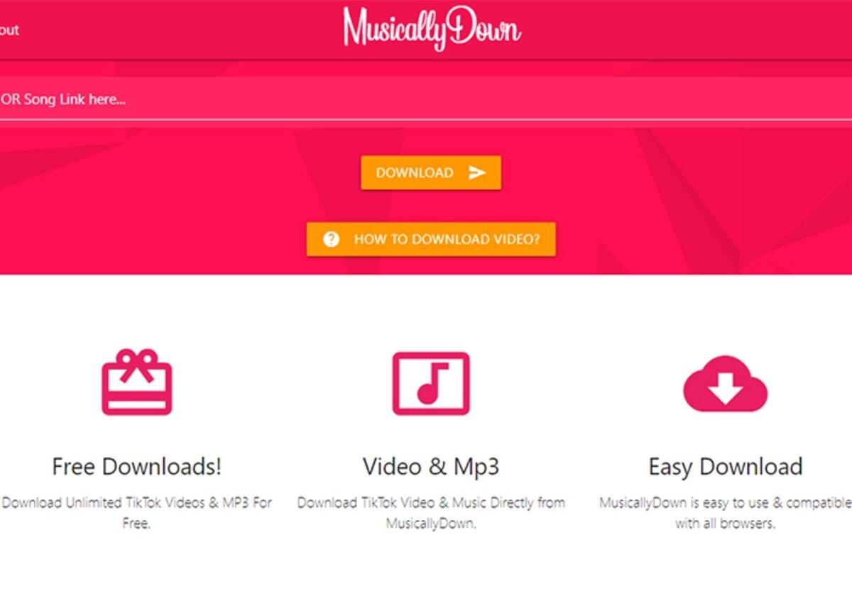 MusicallyDown pour télécharger des vidéos TikTok sans filigrane