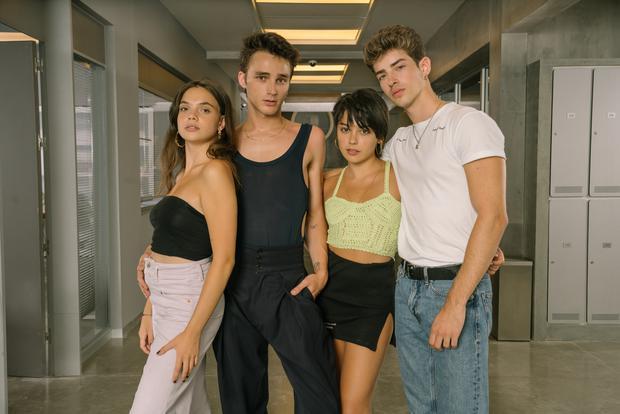 Les quatre nouveaux étudiants de Las Encinas (Photo: Elite / Netflix)
